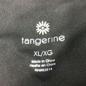 Tangerine Pants - Tangerine XL Black Ankle Length Leggings Active